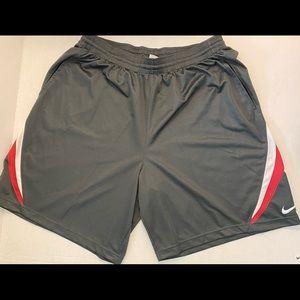 Alabama crimson, white and gray shorts.
